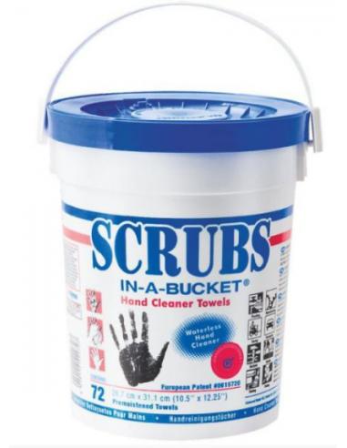 Lingettes Scrubs (Seau de 72 lingettes)